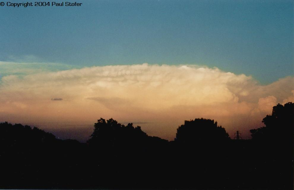 Picture of a supercell taken from my roof. Image is facing the East
