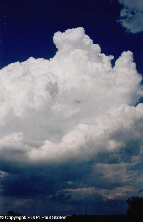 Cumulonimbus building in Durant OK April 9 2004